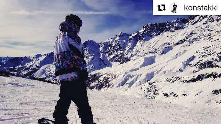 "@konstakki (@get_repost) ・・・ Thinking the next move. #slopes #ride #line #swizerland🇨🇭…"""
