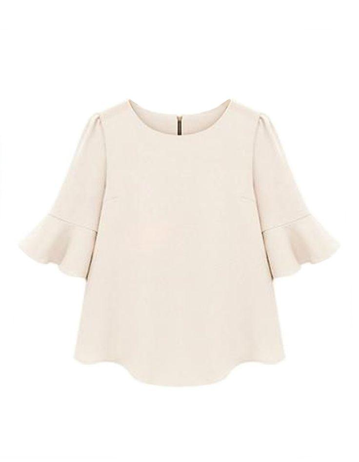 Fashion Ruffle Loose Blouse White