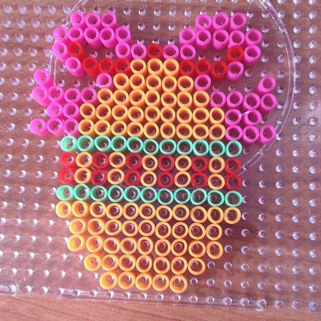 Easter egg hama beads by megane_rainbow_loom