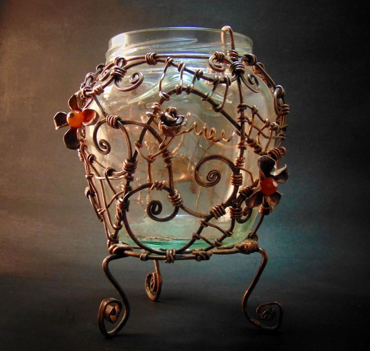 Obiecte din sticla acoperite manual in cupru - Hadarugart Arta inseamna viata