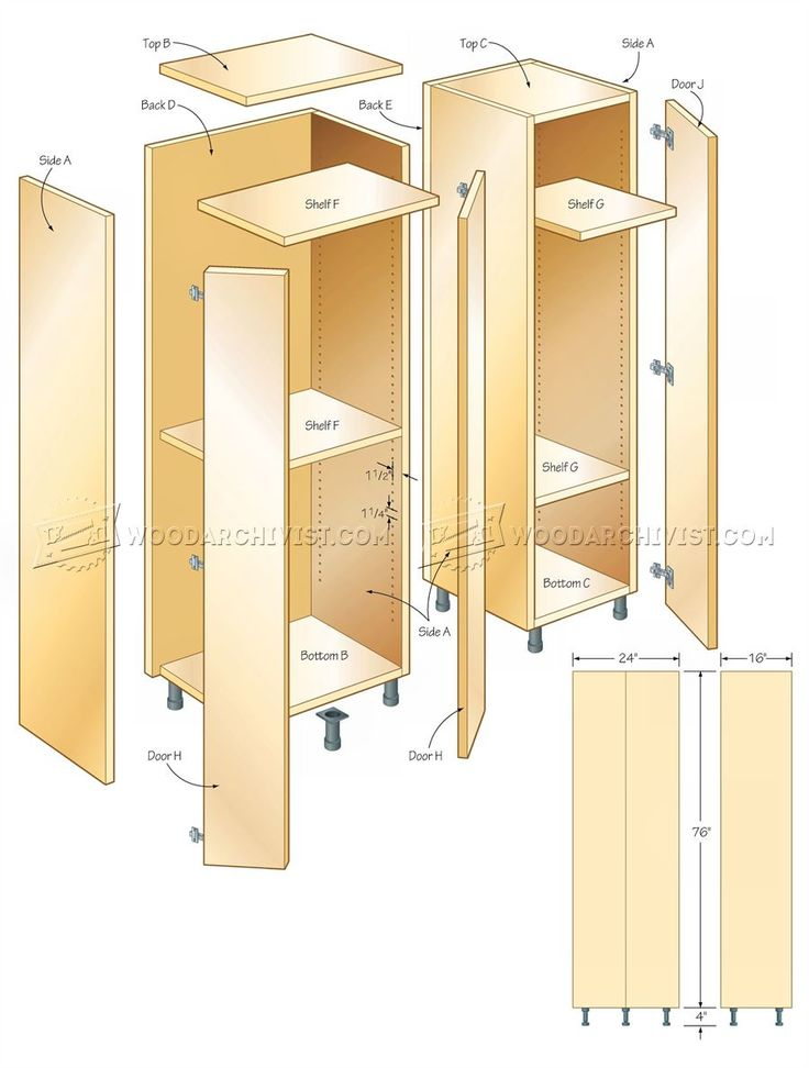 #1786 Tall Storage Cabinet Plans - Workshop Solutions