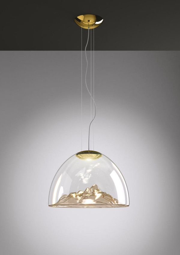 the Mountain View suspension lamps designed by Russian designer Dima Loginoff for Axo Light