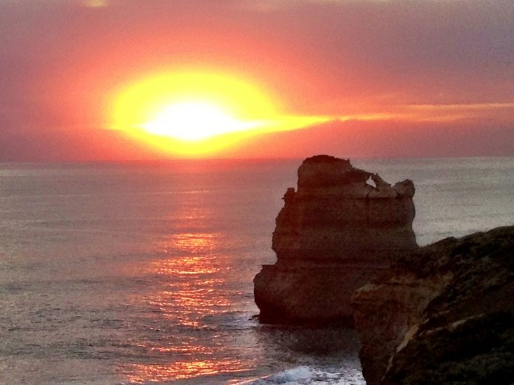 Amazing lenticular sunset - Great Ocean Road - Port Campbell National Park - Gibson Steps