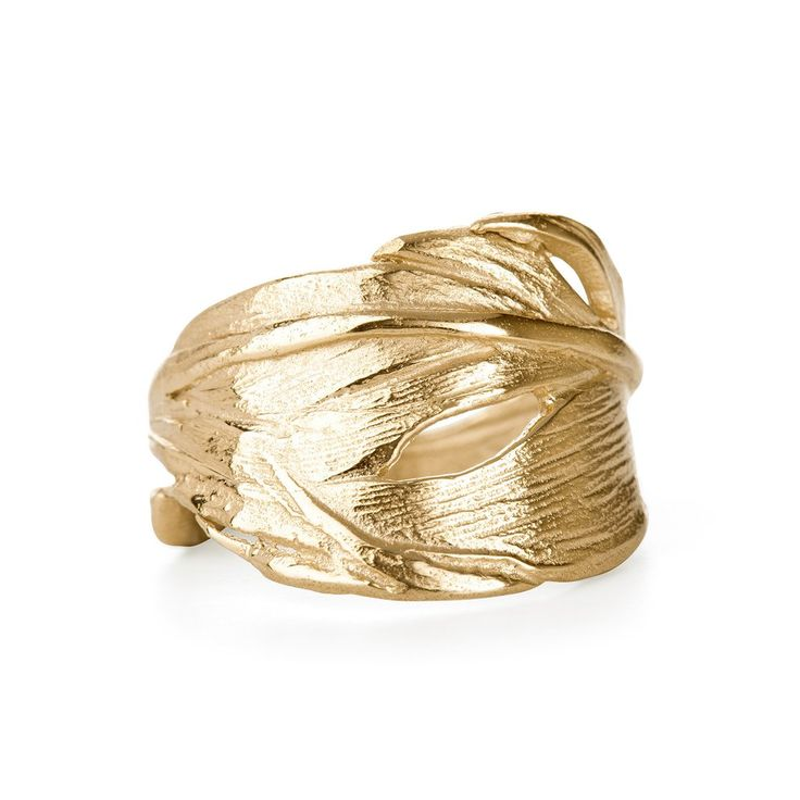Chupi I Can Fly Swan Feather Ring in Gold