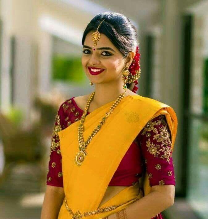 Saree Blouse Designer Sarees South Indian Bride