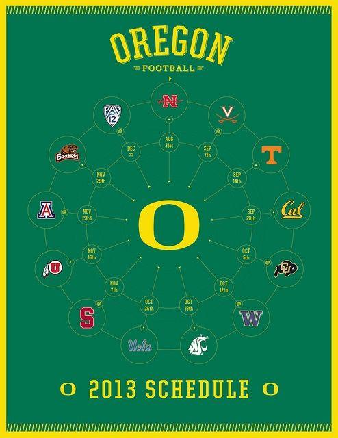 2013 Oregon Ducks Football Schedule