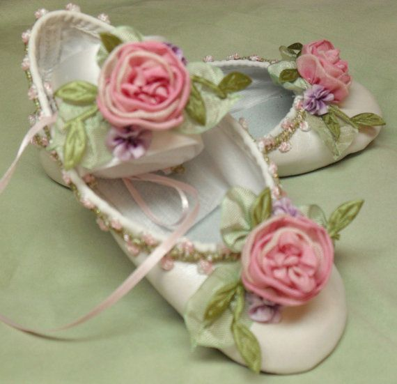 embellished ballet shoes are an adorable accessory for the flower girl.  Enchanted Theme