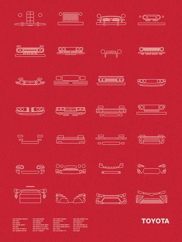 Auto Icon Screen Print Series: Toyota