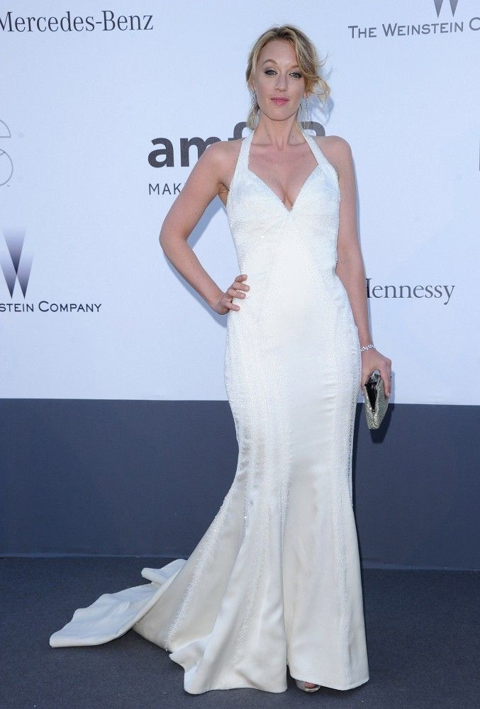 Ludivine Sagnier in Roberto Cavalli at the amfAR Cinema Against AIDS Gala (2013)