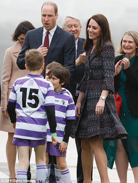 March 18, 2017: Prince William joked with Kate as they played with youngsters around the Eiffel Tower in Paris, France. ~ Photo by Tim Rooke/REX/Shutterstock