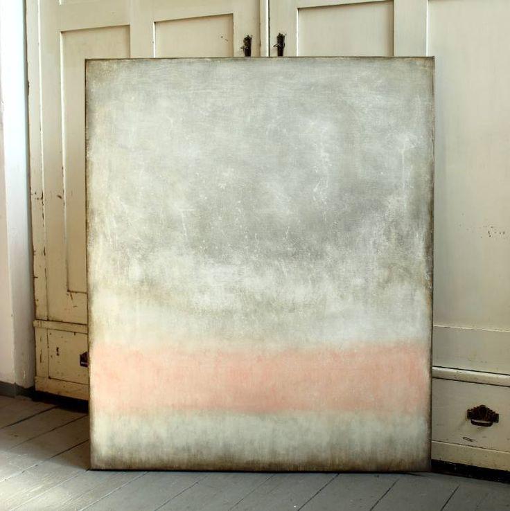 "Christian Hetzel; Painting, ""pink in grey"" #art"
