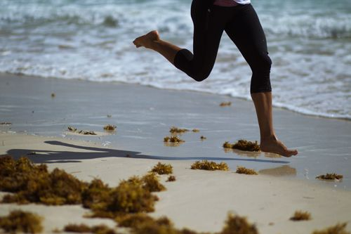 Get your feet wet with beach running!