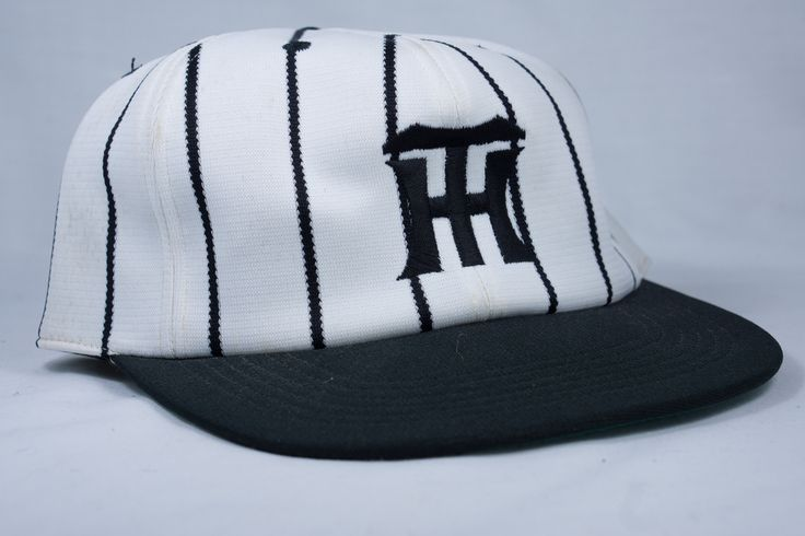 Hanshin Tigers Adjustible Baseball Cap - White with Black Stripes