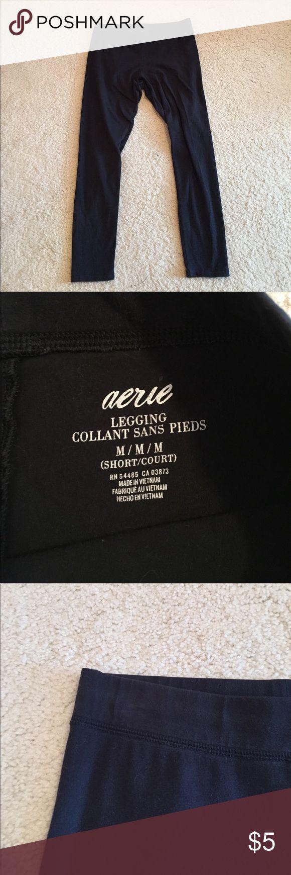 Aerie leggings medium short The most basic leggings you'll find. Size medium short. Black and not faded at all aerie Pants Leggings