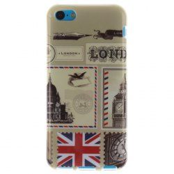 Stamp Designing TPU Soft IMD Technology Case Cover for iPhone 5C