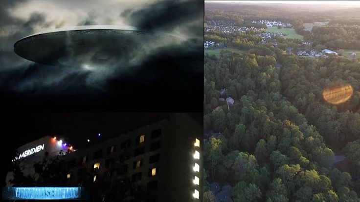 Massive 'UFO-Cloaked' Le Meridian Hotel in Charlotte NC!! Biological UFO...