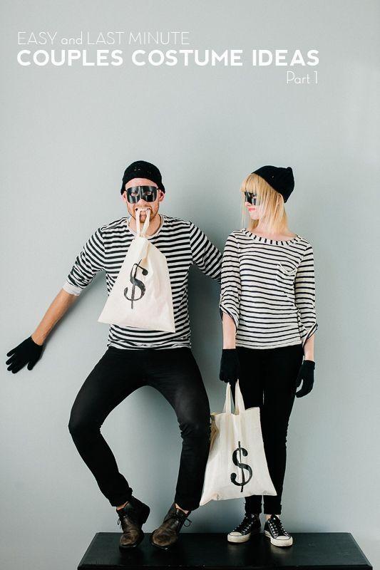 warum nicht als Einbracher-Due zur #Halloweenparty gehen? ein prima Pärchen-Kostüm