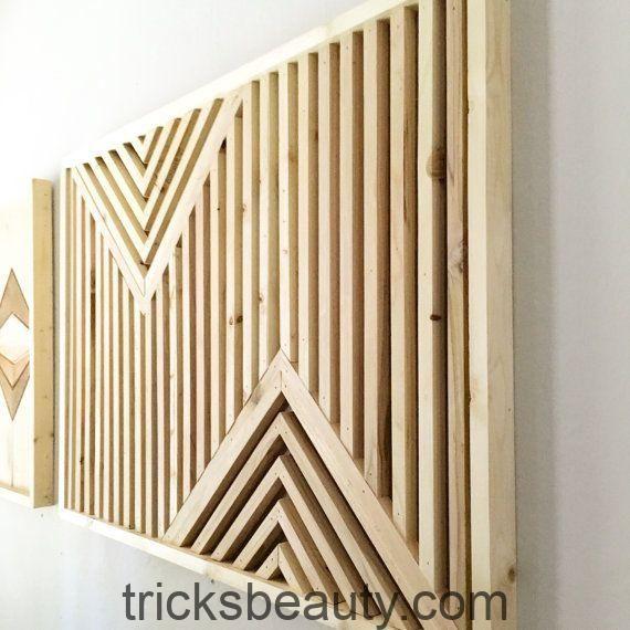 Geometrische Holzkunst Moderne Holzkunst Von Blankspacestudios Beauty Tips Tricks Altholz Kunst Holzkunst Geometrische Wandmalerei