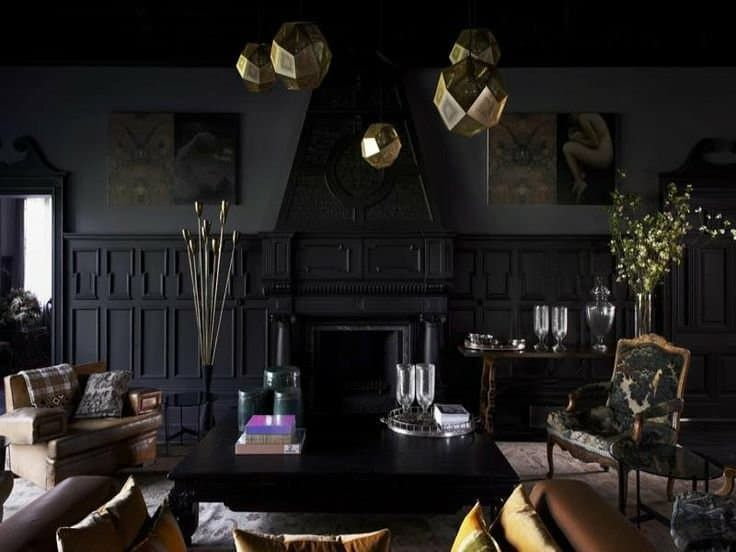 Cozy Drama Isnu0027t An Oxymoron: A Dozen Beautiful Dark Living Rooms