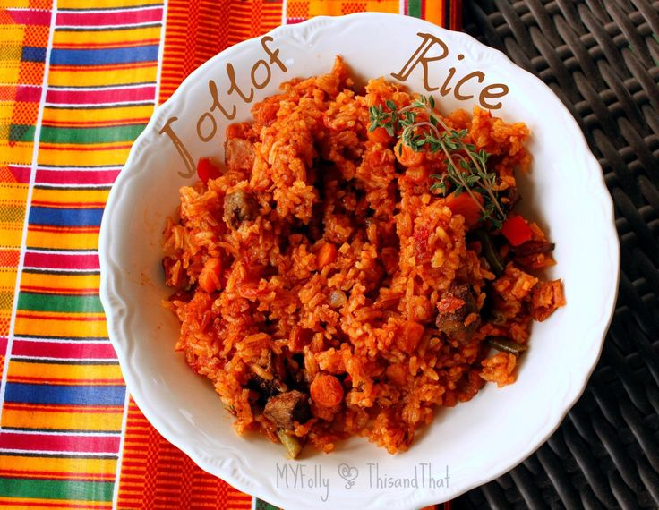 Jollof Rice - Traditional African Recipe - just in case you want to bring something special to the table :)