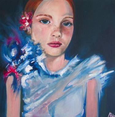 "Saatchi Art Artist Maddalena Fanfani; Painting, ""a Quiet Girl"" #art"