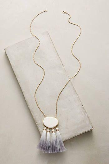 Howlite Tassel Pendant Necklace