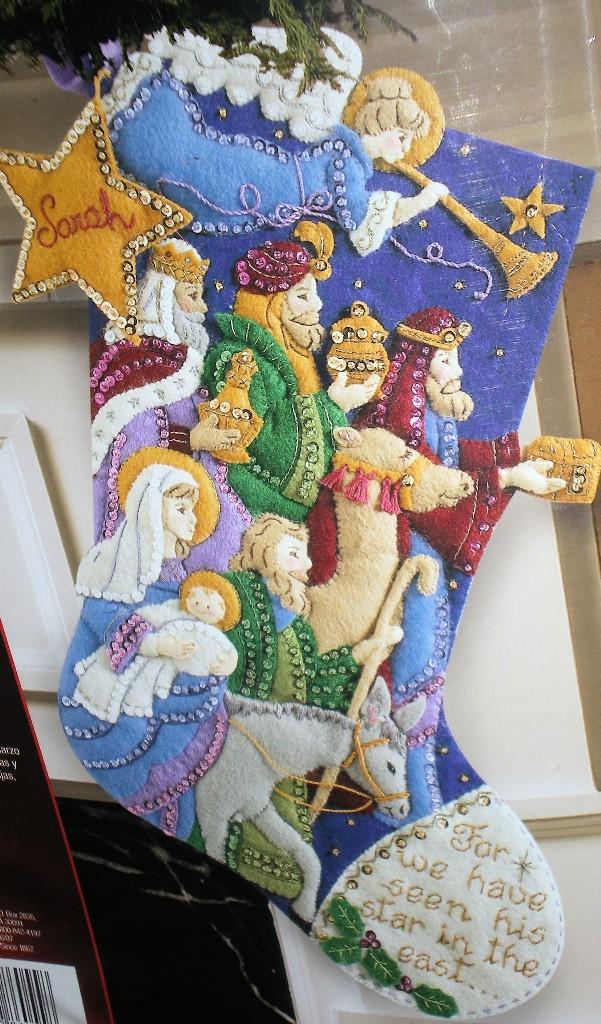 Image Detail for - Bucilla Janlynn Dimension Felt Christmas Stocking Kits | eBay