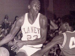 Jordan was cut by his high school varsity team at Emsley A. Laney High School in Wilmington, North Carolina.