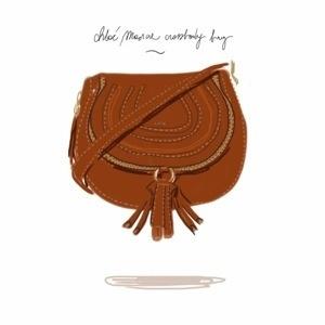 Marcie cross dot bag, Chloé.  #fashion #illustration #stilllife Open Toe - Opentoeillustration.com