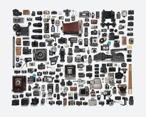 Photographer Neatly Arranges Huge Collection Of Camera Gear Into One Picture