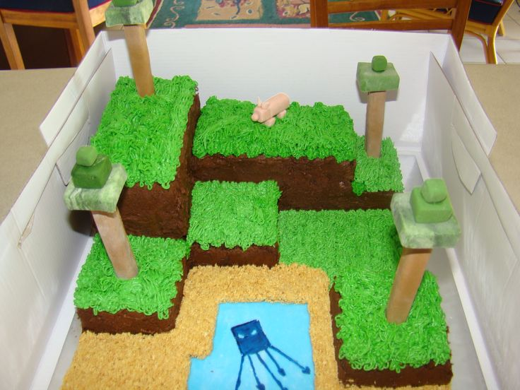 Decoration de gateau minecraft