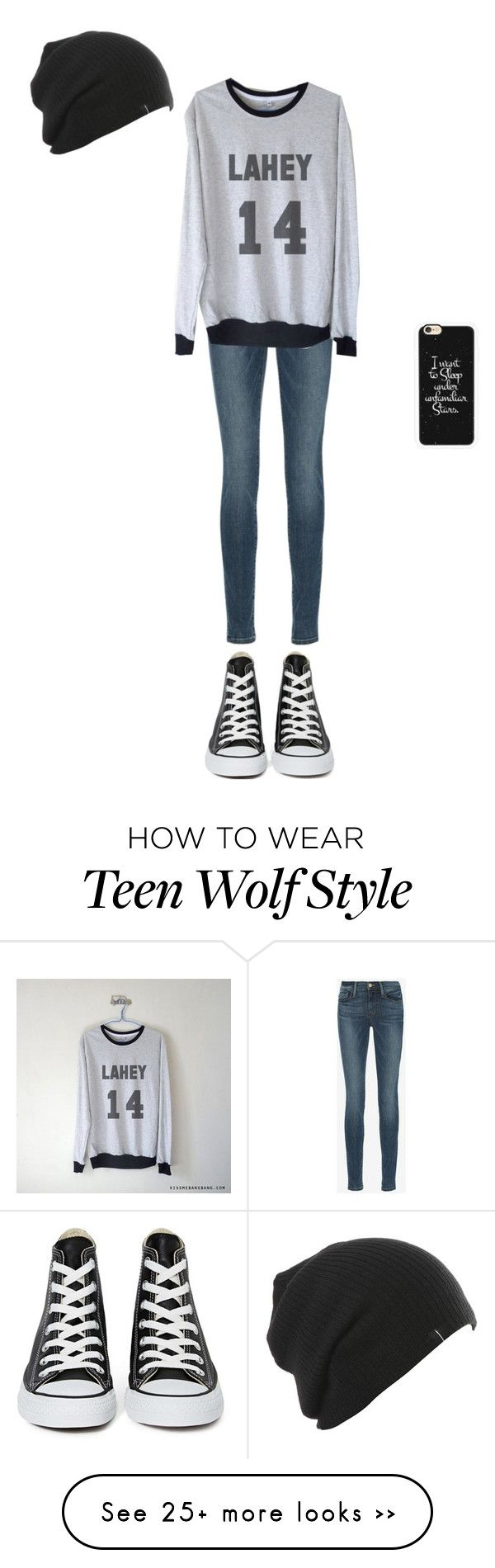 """I miss Isaac from teen wolf!!"" by vanillabean2002 on Polyvore featuring Frame Denim, Converse and Casetify"