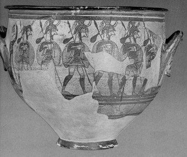 The Warrior Vase mycenae