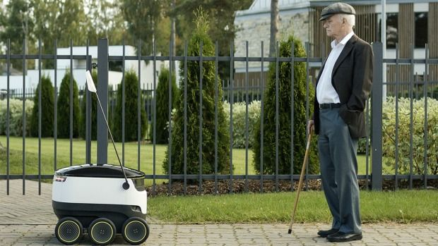 Fleets of small autonomous robots could soon become a familiar presence on public footpaths with the advent of ground-based drones that aim to improve local delivery of goods and groceries.