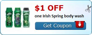 New Coupon!  $1.00 off one Irish Spring body wash - http://www.stacyssavings.com/new-coupon-1-00-off-one-irish-spring-body-wash-5/