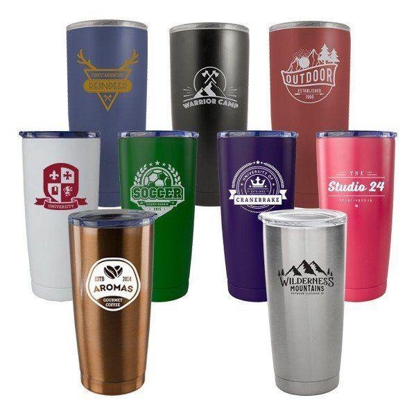 20oz Double Wall Vacuum Stainless Steel Tumbler With Copper Lining Press In Drink Thru Lid Tumbler Business Promotional Gifts Corporate Promotional Items