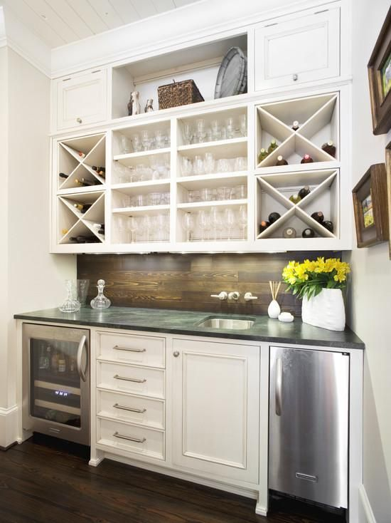 ideas contemporary home bar design apply white cabinet that completed with wine racks alsusing mini refrigerator with stainless cover nice - Home Wine Bar Design Ideas