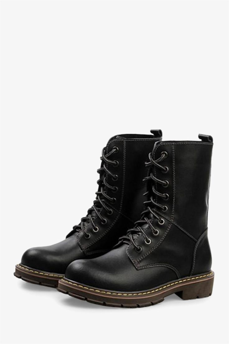 Martin High Top Boots In Matte Black