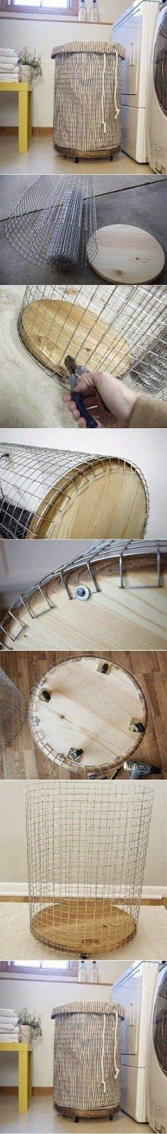 Miroir Bois Flotte Casa : DIY Laundry Basket