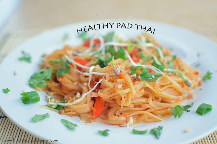 Healthy Pad Thai - Breast Cancer Maven #vegan #refined sugar free #whole grain