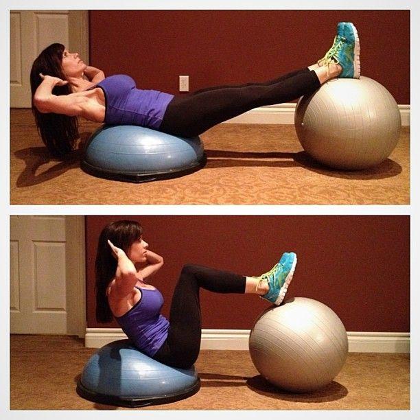 Bosu + Stability Ball.