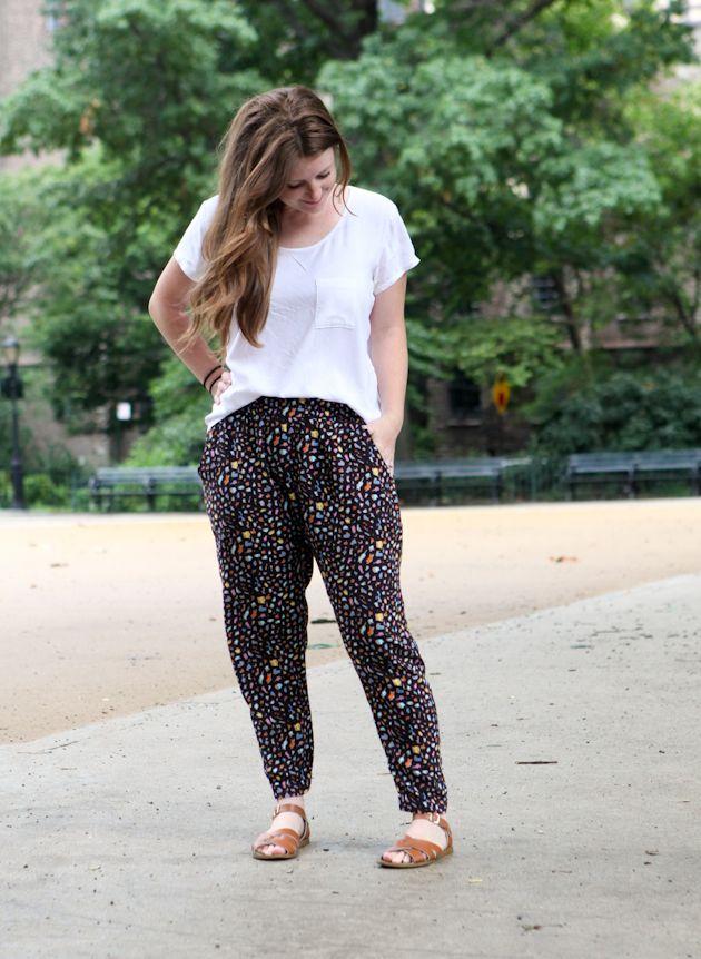 Hudson pants: woven variation | True Bias