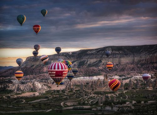 Veselin Atanasov photographed hot air balloons, somewhere, but I couldn't find out where.