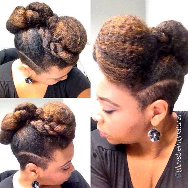 66 best natural hair 4 work images on pinterest natural hair naturalhairdaily another fly updo by the fabulous tjluvsbeingnatural twa hairupdo hairstylehair pmusecretfo Image collections