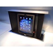 S-Box pop-up for iPad, iPhone and iPod. Includes Altec Lansing speaker system. Charge, surf and play music
