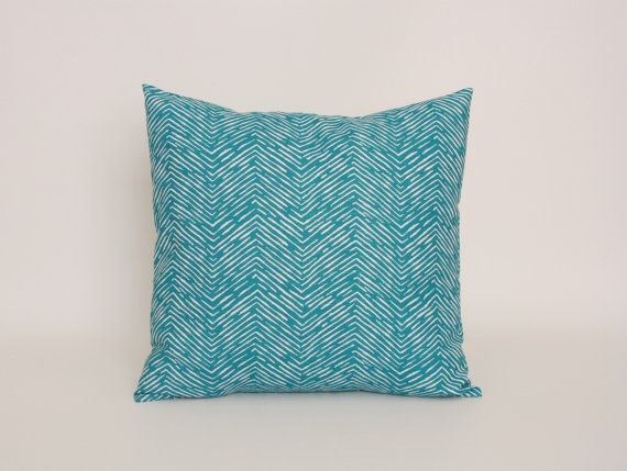 Teal Blue Throw Pillow Covers : Blue Throw Pillow Cover, Teal Blue Cushion Cover, 20 x 20 Throw Pillo?