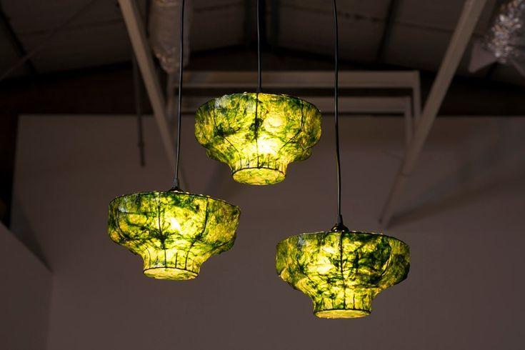 Green lighting, Israeli designers, green design from Israel, seaweed lamp, Marine Light, Nir Meiri,