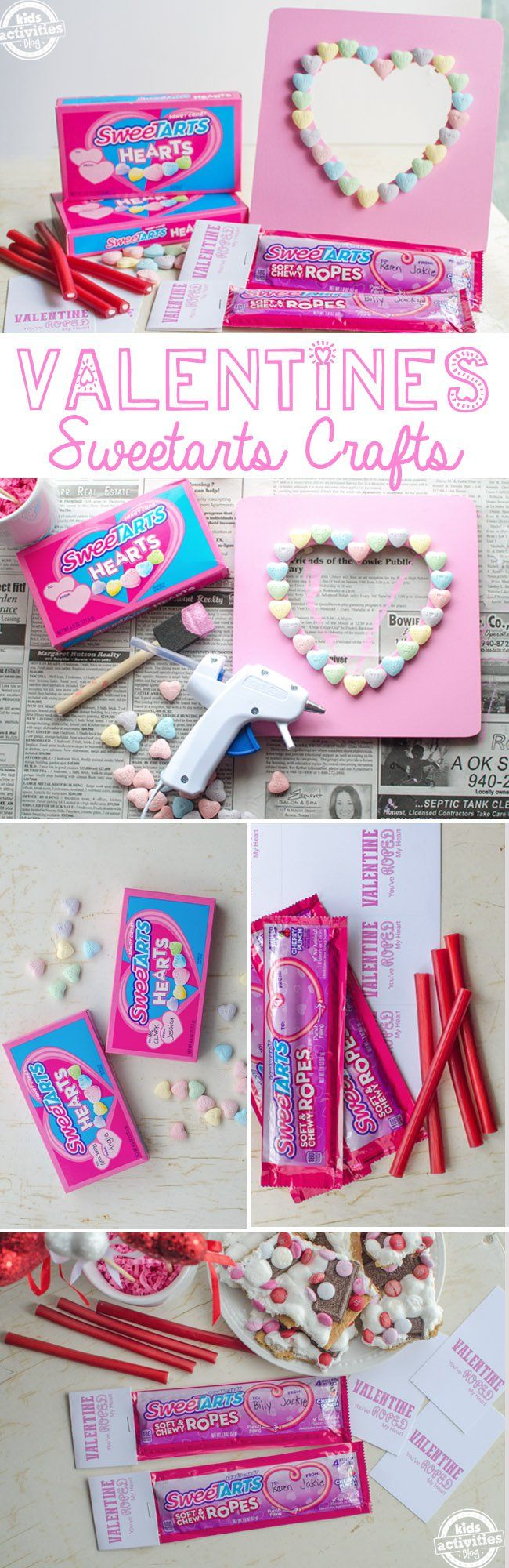DIY Valentine's Day sweetarts hearts craft Photo project!!!!