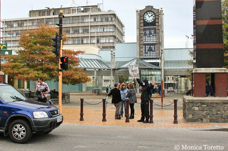 March 29, 2014 - National Day of Action againt TPPA, held at Wachner Place, Invercargill.  See our website for the story.