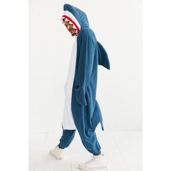 kigurumi shark costume 80 liked on polyvore featuring costumes shark halloween costume - Halloween Costume Shark